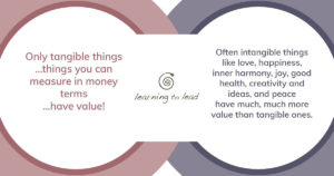 Value on tangible and intangible things c